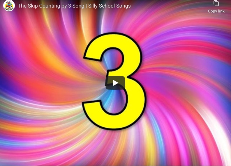 cover image from the skip counting by 3 video