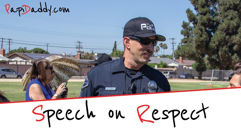 Speech on Respect and Responsibility